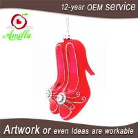 Buy cheap Blown Glass Red High Heel Shoe For Christmas Tree Ornaments from wholesalers