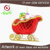 Buy cheap Decorative Red Blown Glass Sleigh With Gifts For Christmas Decoration from wholesalers