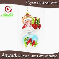 Buy cheap Hand Blown Glass Snowman Decorations For Christmas Tree Ornaments from wholesalers