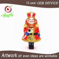 Buy cheap Blown Glass Solider Nutcracker Xmas Decorations For Christmas Ornaments from wholesalers