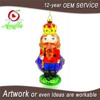 Buy cheap Hand Blown Glass Nutcracker Decorations For Christmas Ornaments from wholesalers