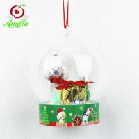 Buy cheap Unique Resin Dog With Small Lights Strings In Dome Xmas Decorations from wholesalers