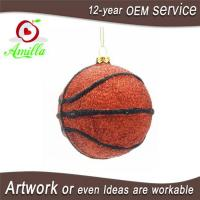 Buy cheap Personalized Hand Blown Glass Basketblall For Christmas Tree Ornaments from wholesalers