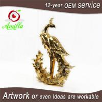 Buy cheap Golden Resin Figurine Peacock Statues for Sale and Gifts from wholesalers