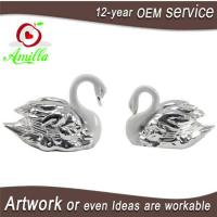 Buy cheap White with Silver Swan Statue for Home Room Accessories and Wedding Gifts from wholesalers