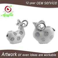 Buy cheap White with Silver and Gloden Polyresin Sheep Figurines for Home Decorations from wholesalers