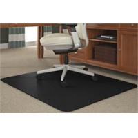 China Black Chair Mats for Medium Pile Carpets - 36x 48 Rectangular Chair Mat (Other Sizes Available) on sale