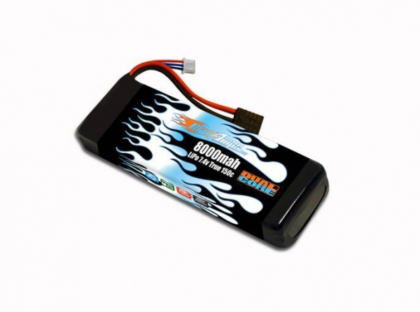 Quality LiPo Battery Packs LiPo 8000 2S 7.4v Dual Core Battery Pack for sale