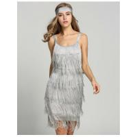 Wholesale Gray 1920s Straps Tassels Glam Gatsby Fringe Flapper Belted Party Dresses Model: ww0a0019 from china suppliers