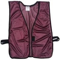 Wholesale Maroon Soft Mesh Plain Safety Vest from china suppliers
