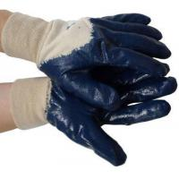 Wholesale Nitrile Palm Coated w/ Knit Wrist Gloves (Sold by Dozen) Size Large from china suppliers