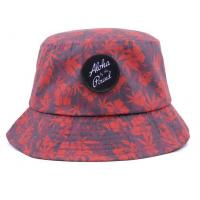 Buy cheap Bucket hat with embossed leather patch logo from wholesalers