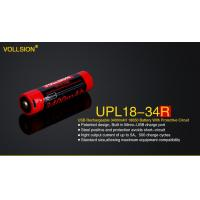 Buy cheap Battery & Charger UPL18-34R Built in Mirco-USB charge 3400mAH 18650 battery with protective Circuit from wholesalers