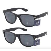 Quality 2 pairs - Rectangular Black Sunglasses with case for sale