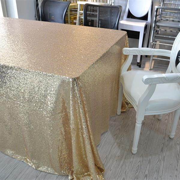 China Wedding Sequin Table Cloth
