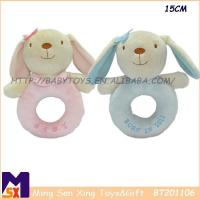 Buy cheap Baby Rattle Toys Custom Plush Rabbit Rattle Toy from wholesalers