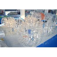 China 0.7mm Clear TPU Inflatable Bubble Football Ball For Grassland Or Bumper Ball Court on sale