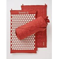 Wholesale Alternative Medicine Saffron Red Hemp Acupressure Massage Mat with carry-bag from china suppliers