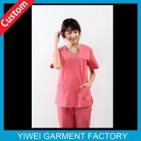 Wholesale Cute Pink Custom Hospital Uniforms For Nurse from china suppliers