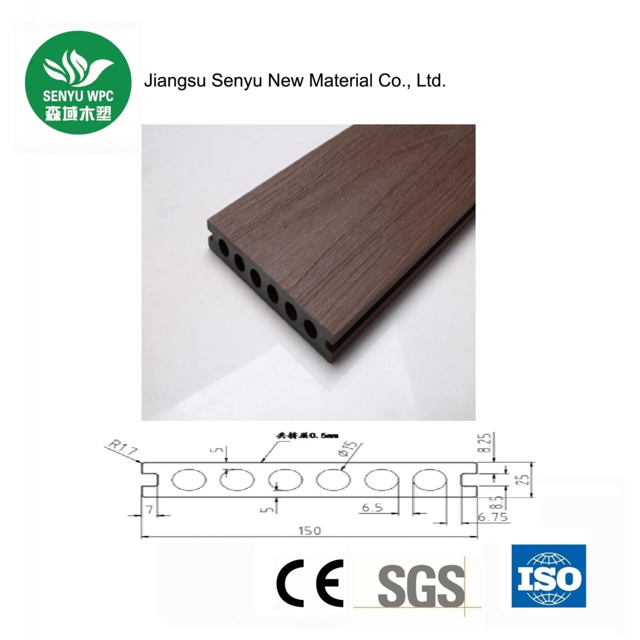 Buy cheap 150*25 Hollow Co-extusion Flooring from wholesalers