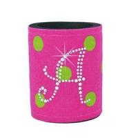 Wholesale Rhinestone Monogram Coolies - Pink & Lime Polka Dots from china suppliers