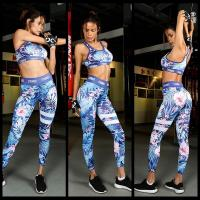 Buy cheap Print Wrap chest Without cotton yoga pants from wholesalers
