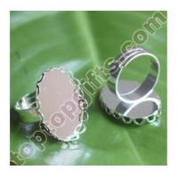 China oval metal craft ring accessories JEWELRY on sale