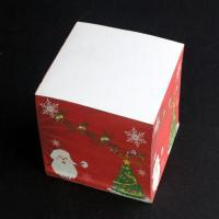 China Memo cube series Christmas paper block sticky notes for sale