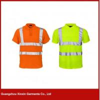 Wholesale 3M reflective orange hi vis polo shirt W46 from china suppliers
