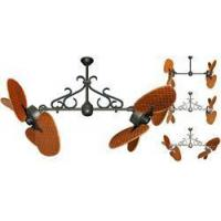 China 46 inch Twin Star III Double Ceiling Fan - Cherry Woven Bamboo Blades on sale