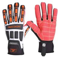 Buy cheap Mesh fabric on the back for safety work impact gloves from wholesalers