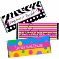 Sweet 16 Sixteen Party Favors Sweet 16 Candy Bar Favors & Wrappers