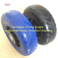 Wholesale 48X156 PU Polyurethane (Rubber) Handcart and Trolley Wheel from china suppliers