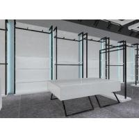 Wholesale Simple Nice Men Clothing Display Case / Apparel Store Fixtures Glossy White Color from china suppliers
