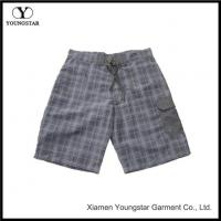 Wholesale Plaid Pattern Men's Swimwear Board Trunks Shorts Without Lining from china suppliers