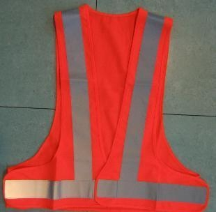 Quality Red LED Reflective Security Fluorescent Safety Vest Clothing for sale