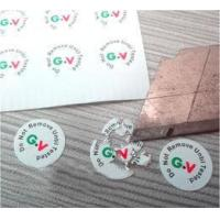 Buy cheap Round Anti Tamper Tags In Rolls Anti - Tamper Estructive Materials from wholesalers