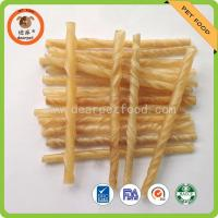 China natural and white color rawhide twisted sticks for dog chew bully stick on sale
