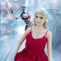 Buy cheap Golden Hair Humanoid Female Sex Robot , Sexy Love Dolls For Masturbation from wholesalers