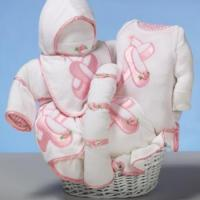 """Baby Gift Baskets """"Ballet Slippers"""" Baby Gift Basket"""