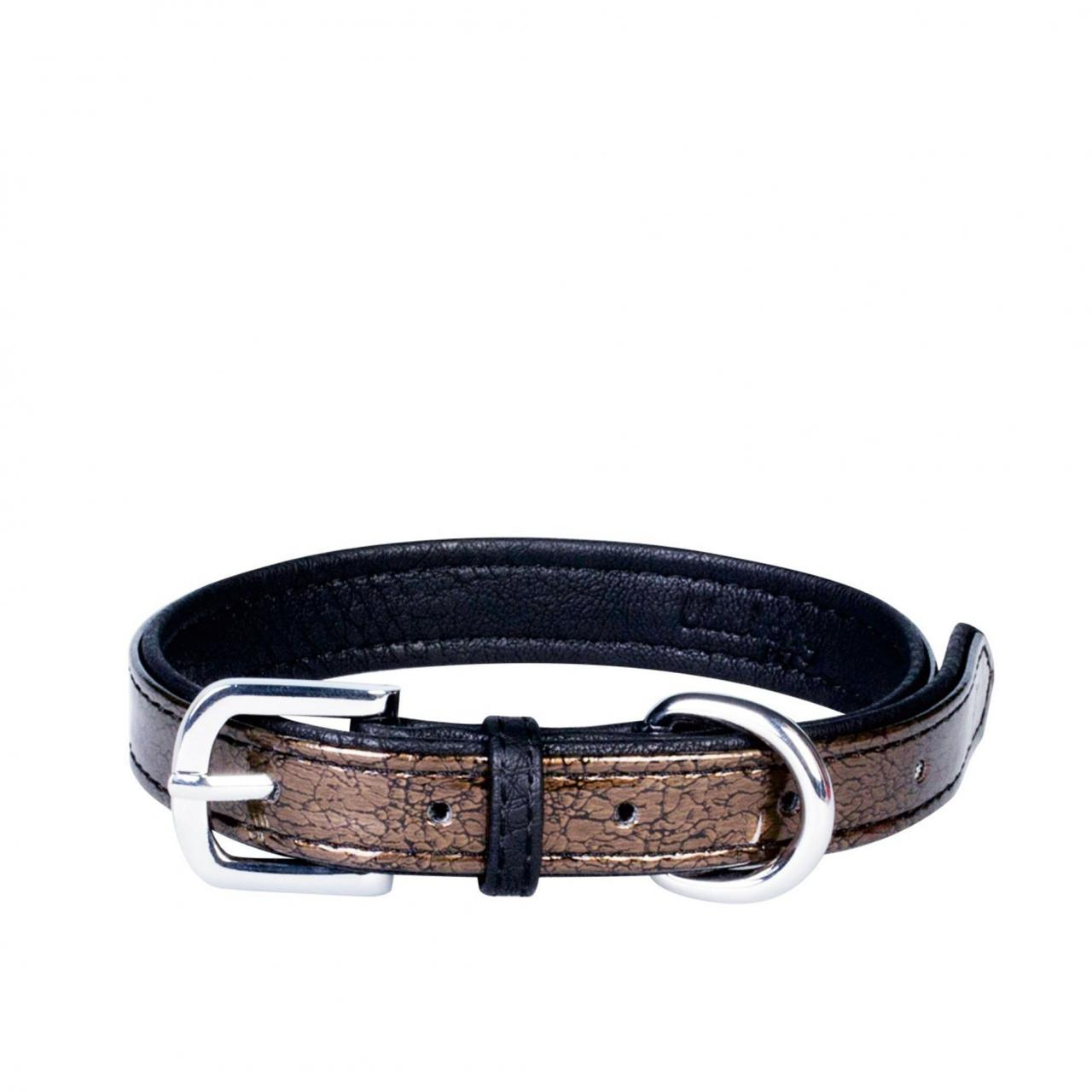 Faux Leather Snake Skin Print Embossed Dog Collars