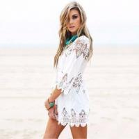 China Women Lace beach kaftan cover ups Swimwear Pareo Beach Cover Ups Beachwear Bathing Suit Cover Ups on sale