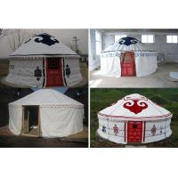 China Sunscreen Polyester Canvas Yurt Style Tent Warm For Travel Accommodation on sale