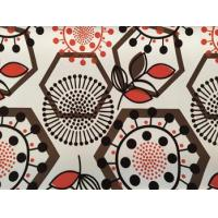 Buy cheap colorful printed flocked leather for sofa from wholesalers