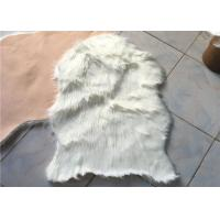 Wholesale Anti Slip Soft White Australian Sheepskin Rug Durable With 60mm - 70mm Wool from china suppliers