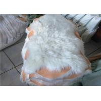 Wholesale 100% Polyester Plain White Faux Sheepskin Rug Living Room 100*100 CM OEM from china suppliers