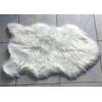 Wholesale Long Wool Artificial Sheepskin Rug , Soft Faux Sheepskin Throw 60* 90 Cm from china suppliers