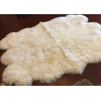 Wholesale Long Hair Small Sheepskin For Chair , Luxury Silky Fleece Home Shag Area Rugs from china suppliers