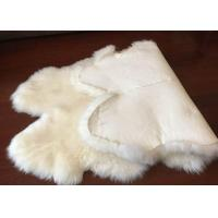 Wholesale Genuine Bedroom Sheepskin Rugs, 4 Pelt Real Sheepskin Blanket 120x180cm from china suppliers
