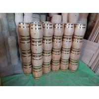 China Low cost high profit Christmas decoration mini wood barrel wholesale on sale